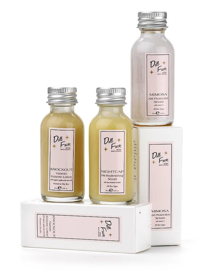Doll face cosmetics, love their lemon scrub & toner