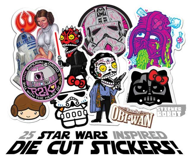 25 Custom Die Cut Stickers Inspired by Star Wars - holy balls,this is cool