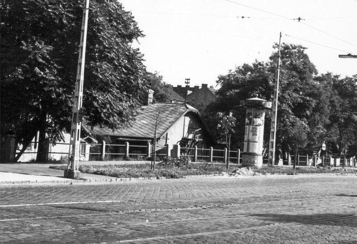 1976 - Haller utca (Hámán Kató út), a Mihálkovics utcai házak másik oldala.