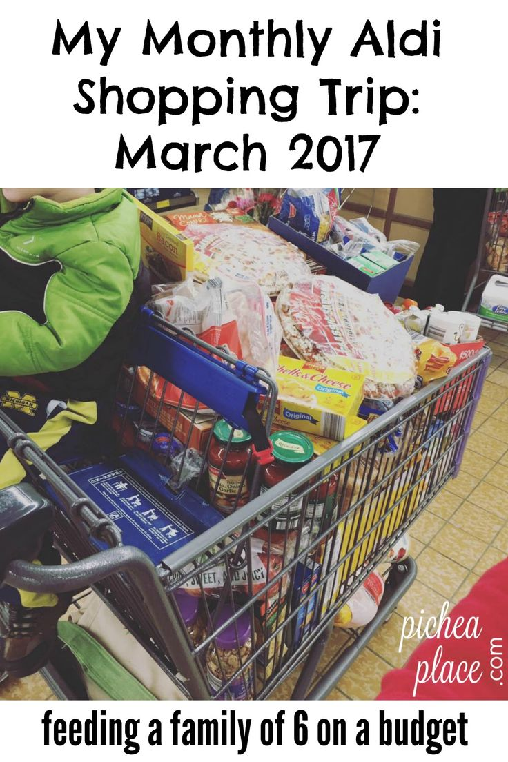 Shopping at Aldi can save you both time and money - that's why this busy mom of four makes a monthly trip across town to stock up on groceries at Aldi!