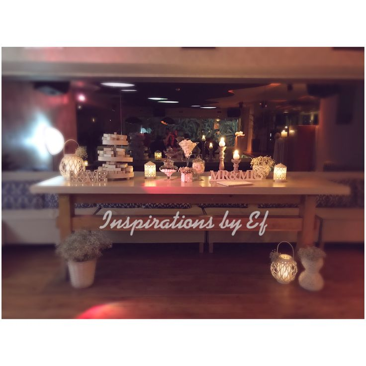 Dessert buffet wedding wish table...