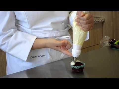 Curso #11 decoración de cupcakes con boquilla redonda