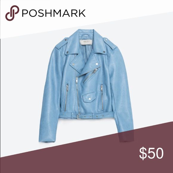 Zara blue jacket Worn once. In great condition Zara Jackets & Coats