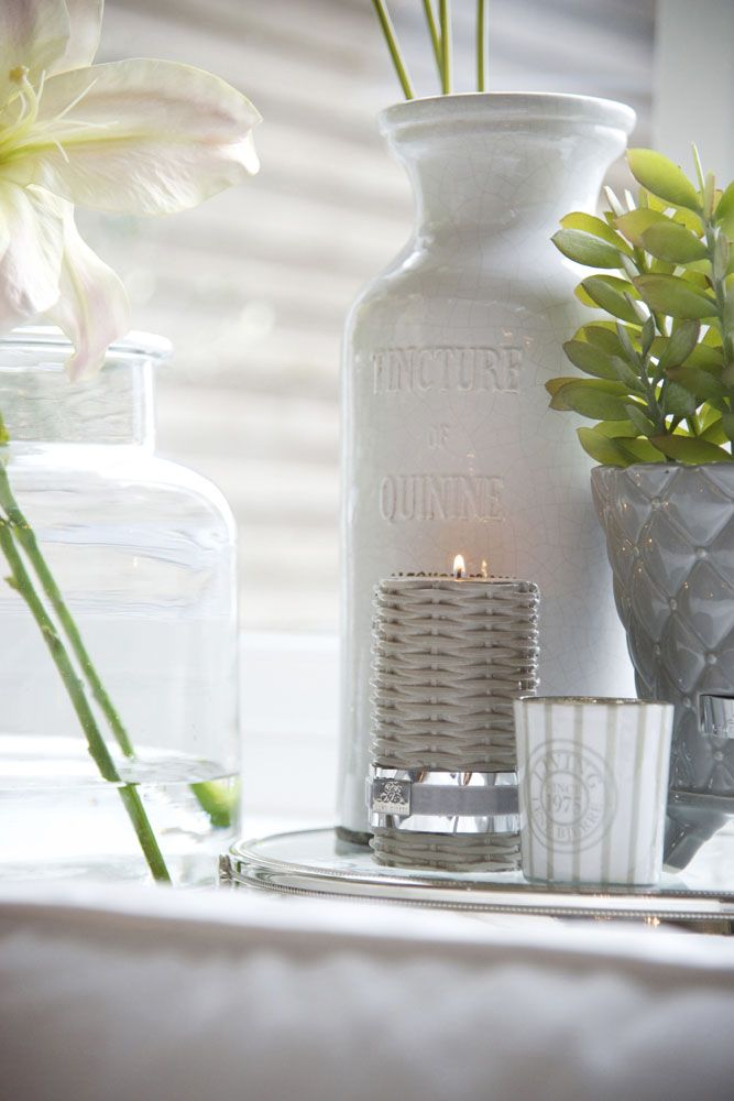 Lene Bjerre - SPRING 2013.  CANDLE WICKER candle, MOLLY tealight and ALMA vase.