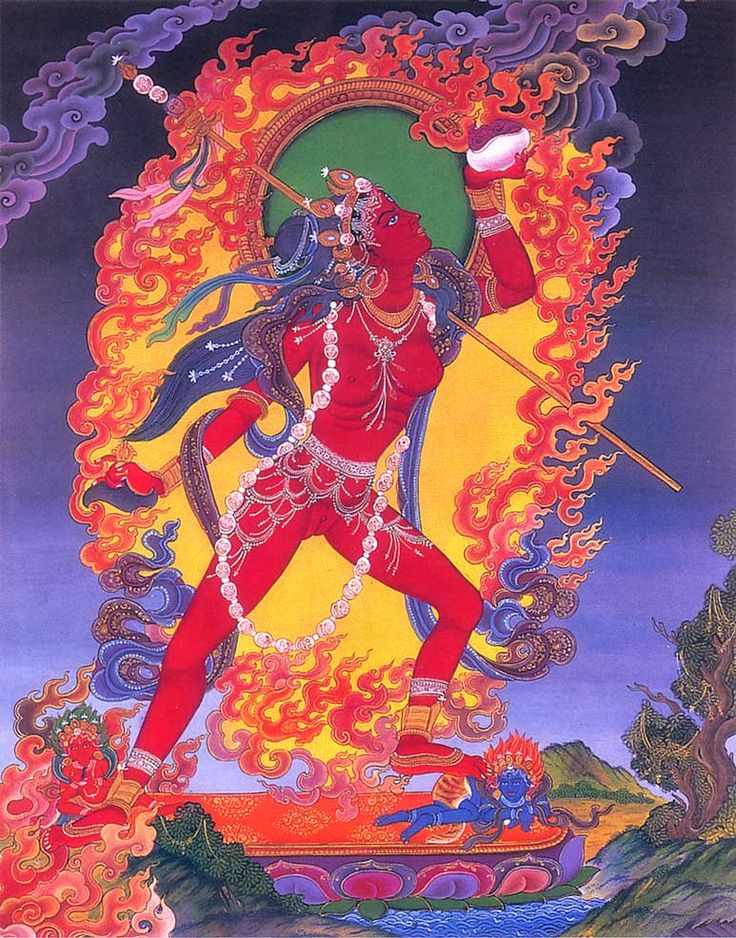 "arjuna-vallabha: "" Vajrayogini thangka, Nepal """