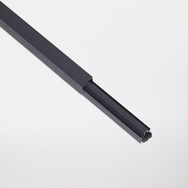 Profile De Finition Aluminium Neva Anthracite Lot De 2 Castorama Cloture Composite Lame Composite