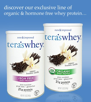 Teras Whey - discover our exclusive line of organic & hormone free whey protein...