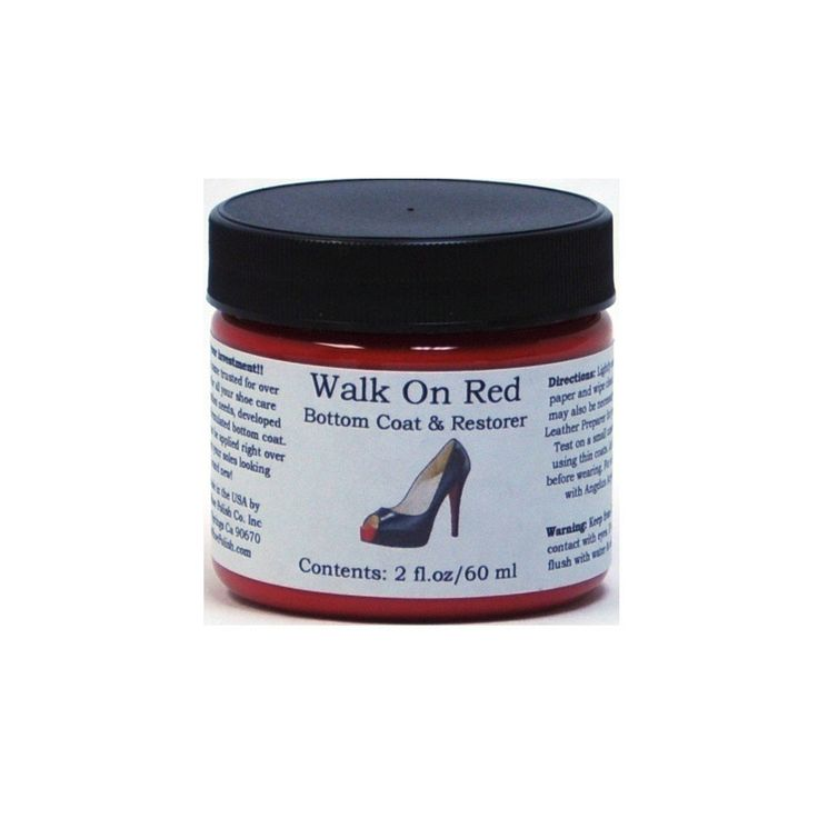 Angelus Acrylic Sole Coat- Walk on Red 2oz; boot embellishment, $11