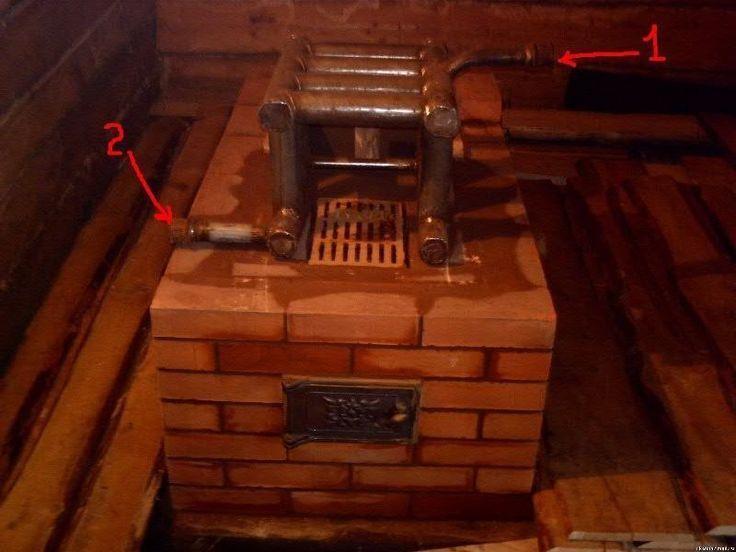Кирпичная печь с встроенным котлом водяного отопления: <br>- Долговечность. <br>- Не требует по большей части дополнительного оборудования. <br>- Печь аккумулирует тепло и поддерживает его в системе отопления приличное время. <br>- Экономия на топливе. <br>- Использование для приготовления пищи...