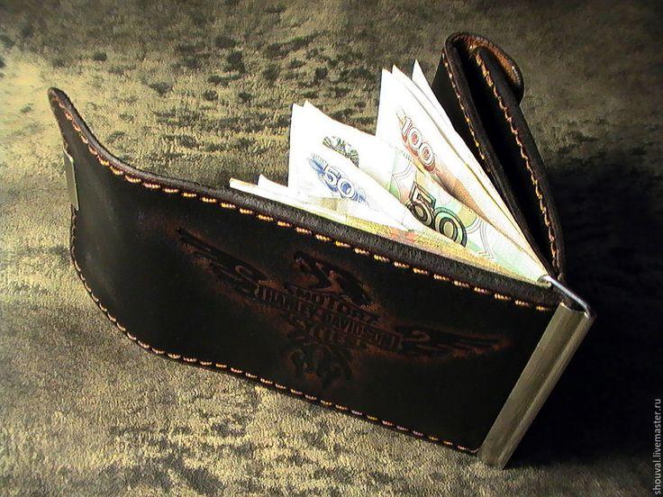 """Купить Зажим для денег """" Легендарный Harley Davidson"""" - зажим для денег, ручная работа"""