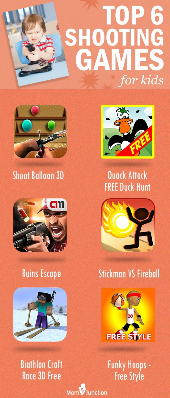 Top 6 Shooting Games For Kids