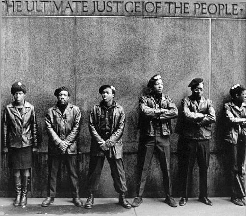 Black Panthers Protest at NYC Courthouse  April 11, 1969 by David Fenton
