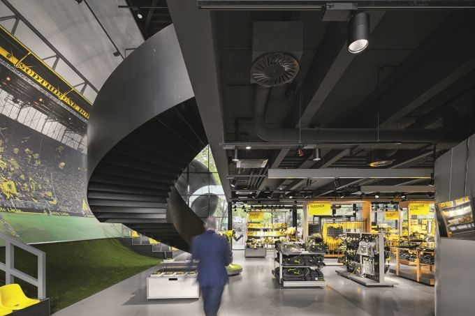 Bringing a glint to eyes in the new Borussia Dortmund (BVB) Fan World | lighting.eu