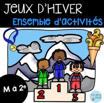 Great French workbook themed around the upcoming Winter Games! #french #frenchimmersion #teacher #education #educator #winter #sports #olympics #wintergames #2018 #mycampt