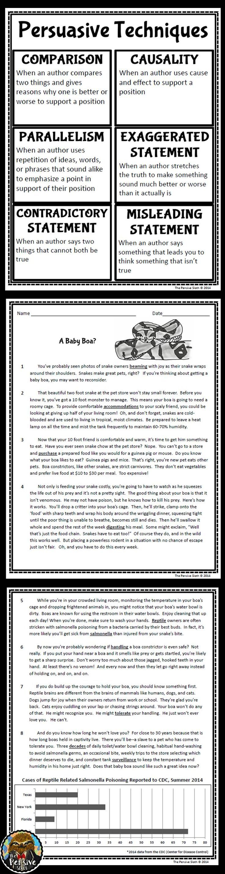 17 best ideas about persuasive text persuasive 5th grade anchor chart and close reading passage for teaching persuasive techniques including causality parallelism