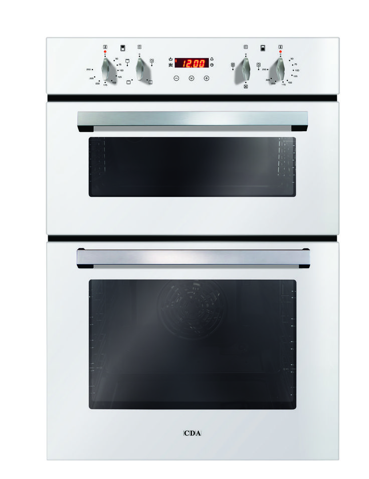CDA DC940WH Double Built In Electric Oven - This CDA Built-In Electric Double Oven comes in elegant white with 7 functions altogether across both ovens, both of which are A rated for energy efficiency, plus removable doors and anti tilt shelves http://www.MightGet.com/february-2017-2/cda-dc940wh-double-built-in-electric-oven-.asp