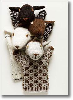 Estonian Sheep Puppets - Lovely Estonian animal puppets knitted from handspun yarn