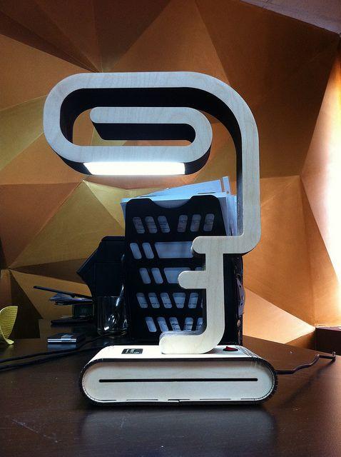 LED lamp made of plywood bureaucrat | by David Bayramyan