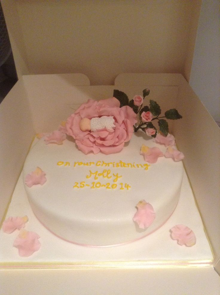 Christening cake for baby Molly