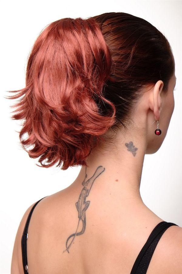Hair Piece Braid Extension Red Copper Red Short Wild Look