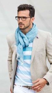 Scarf - Learn how to be more stylish. Read: http://justbestylish.com/what-makes-men-more-stylish/