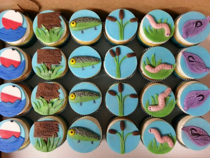 Best 20 fishing cupcakes ideas on pinterest fish for Fishing themed cake toppers