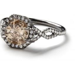 Antique Champaign Diamond Ring with interlocking band...beautiful!