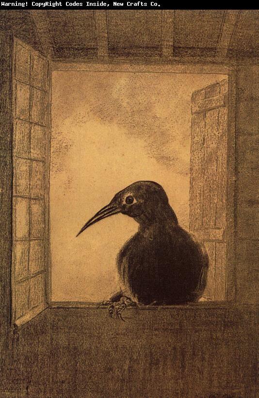odilon redon 'le corbeau', 1882