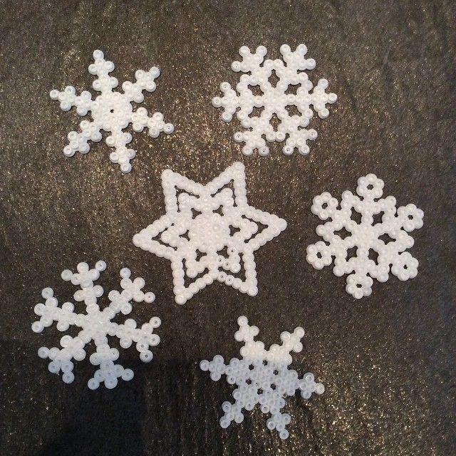 Snowflakes hama perler beads by casameinterior