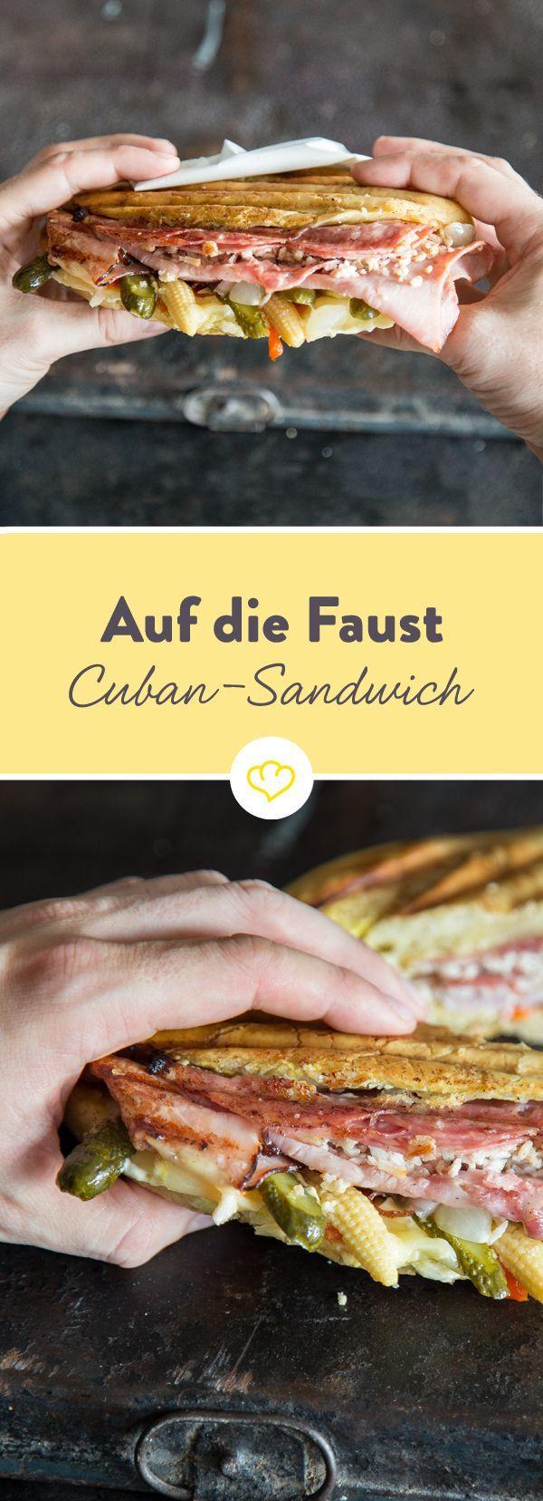 Original Cuban-Sandwich zum Dahinschmelzen!