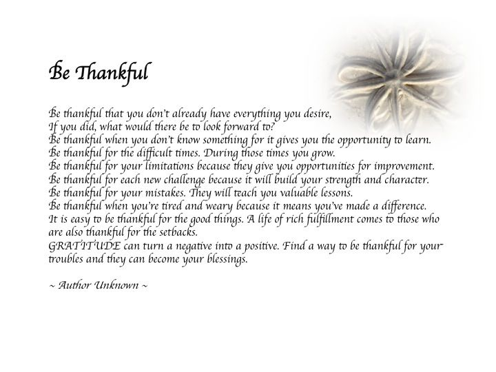 Gratitude poem   Quotes - Profound Thoughts   Gratitude ...