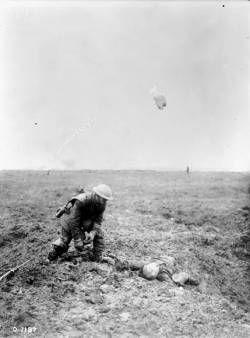 A German soldier beyond human aid. Vimy Ridge. April, 1917.