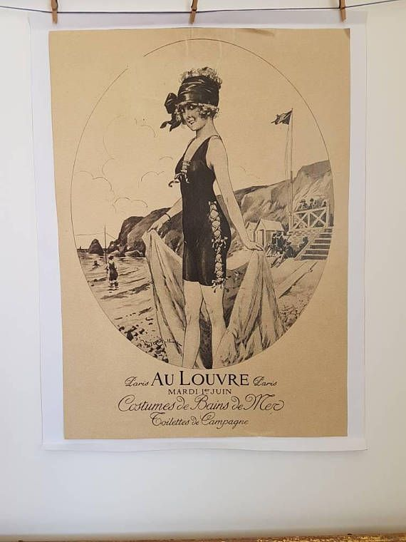 Original French Vintage Poster // Exhibition at the Louvre //