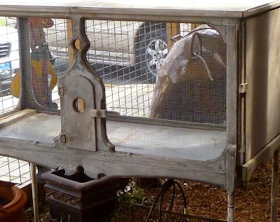 Antique rabbit hutch, October Grace Rabbitry