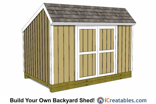 24 best 8x12 shed plans images on pinterest 8x12 shed for Salt shed plans