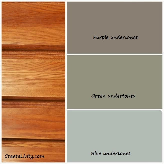 Createlivity is 5 ways to make oak work without - Bathroom paint colors with oak cabinets ...