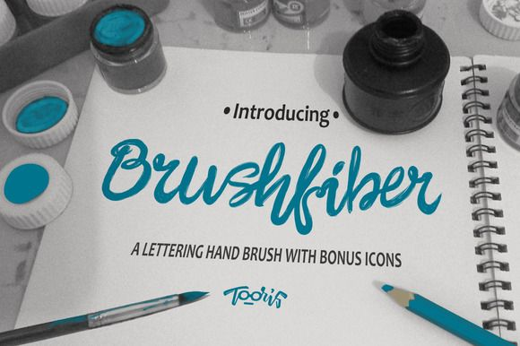 Brushfiber Typeface with Bonus by Tooris on Creative Market