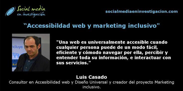 ¿Qué barreras encuentra un discapacitado al usar Internet o las redes sociales? Nos los cuenta Luis Casado. #Accesibilidad #Discapacidad #Marketing #MarketingIncluisvo