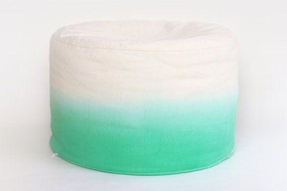 Mint Green Dip Dye / Ombre / LARGE  Bean Bag / Foot by JureamBox