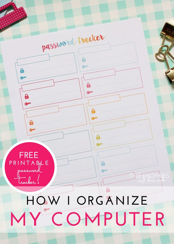 How I Organize My Computer With a Free Printable Password Tracker