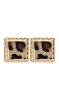 ANIMAL SQUARE STUD: Love these square animal print studs. They are so cute and I love how they are in square form. They are from @mrpfashion ‪#‎MRPfanshop :)