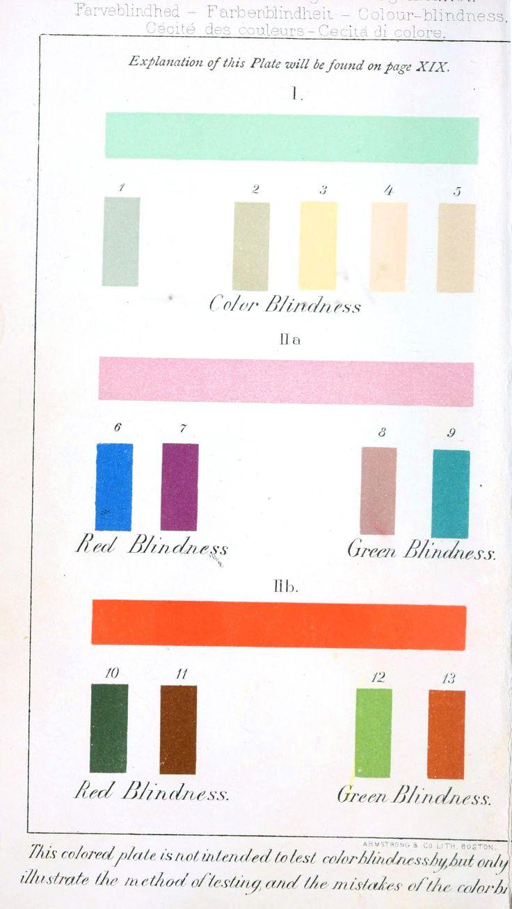 Color Blindness Chart Serendipity Pinterest
