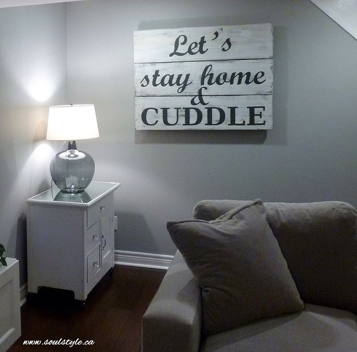 Wood Sign Letu0027s Stay Home U0026 Cuddle Painted Wood Sign Www.soulstyle.ca