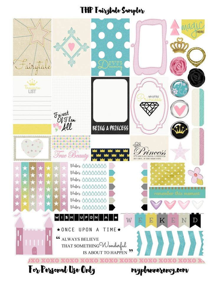 FREE Fairytales Sampler for The Happy Planner and the Erin Condren Life Planner by My Planner Envy