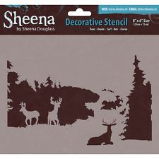 Sheena Douglass Decorative Stencil 8 Inch X 6 Inch-Deer 709650763883