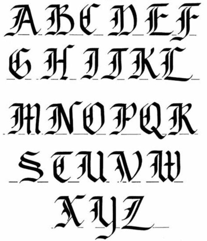 Calligraphy - ABC'S