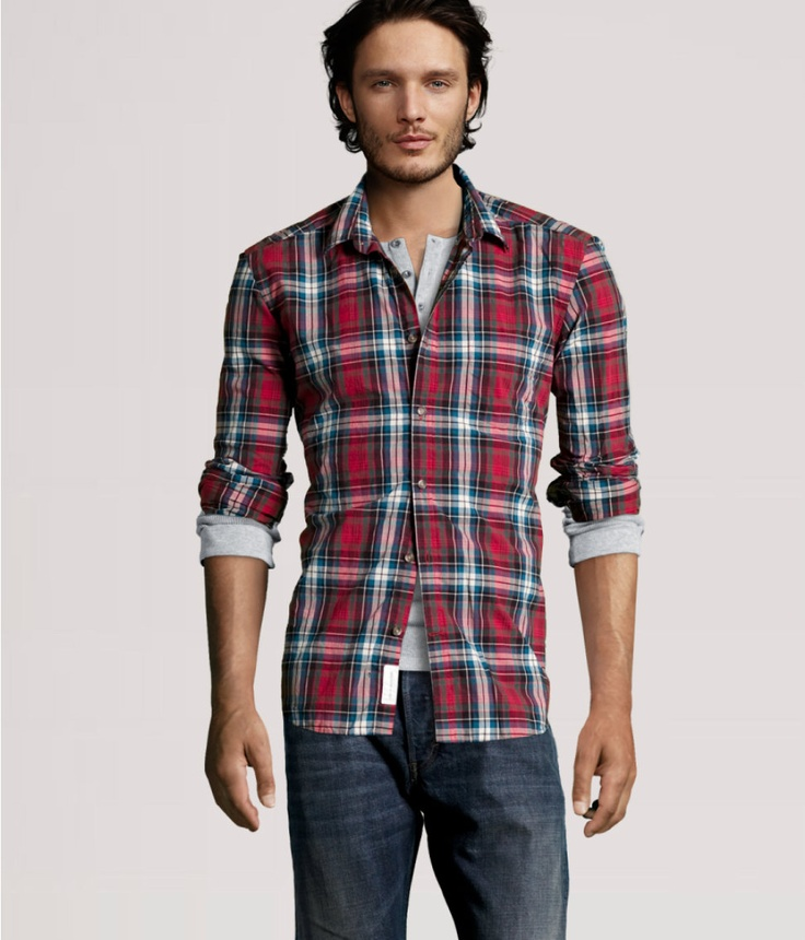 H Shirt, and Henley as bottom layer.  Simple.: But