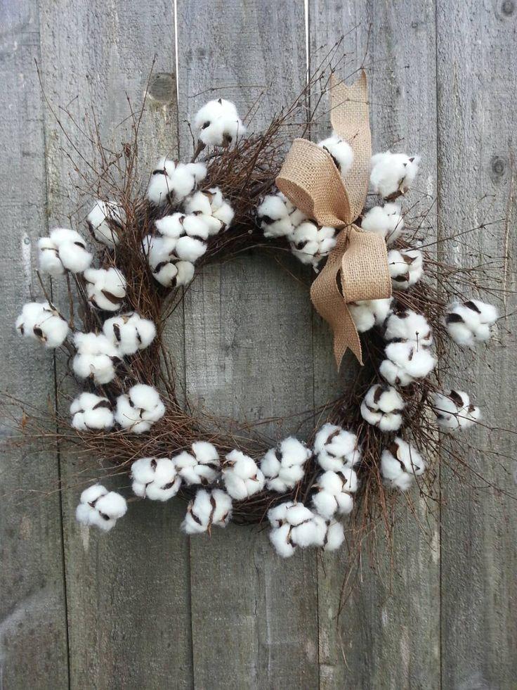 Cotton blossom twig wreath by twigs4u on Etsy https://www.etsy.com/listing/262339108/cotton-blossom-twig-wreath