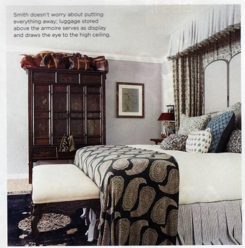 Bedskirt with smallish box pleats  windsor smith bedroom