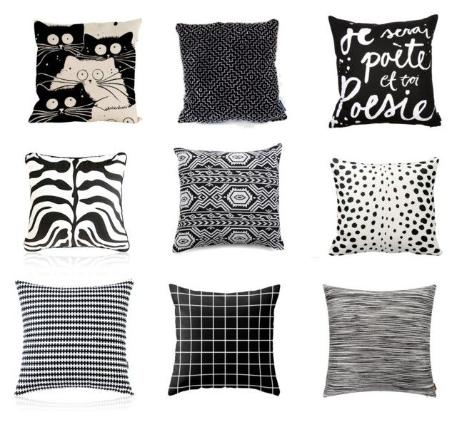 """""""9 of the Best ... Black and White Cushions"""" by beavercity on Polyvore featuring interior, interiors, interior design, home, home decor, interior decorating, Eightmood and Missoni Home"""